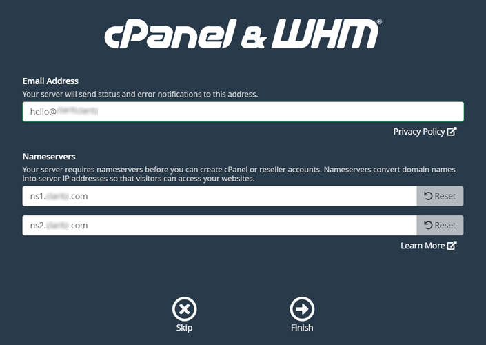 Install WHM on Google Cloud